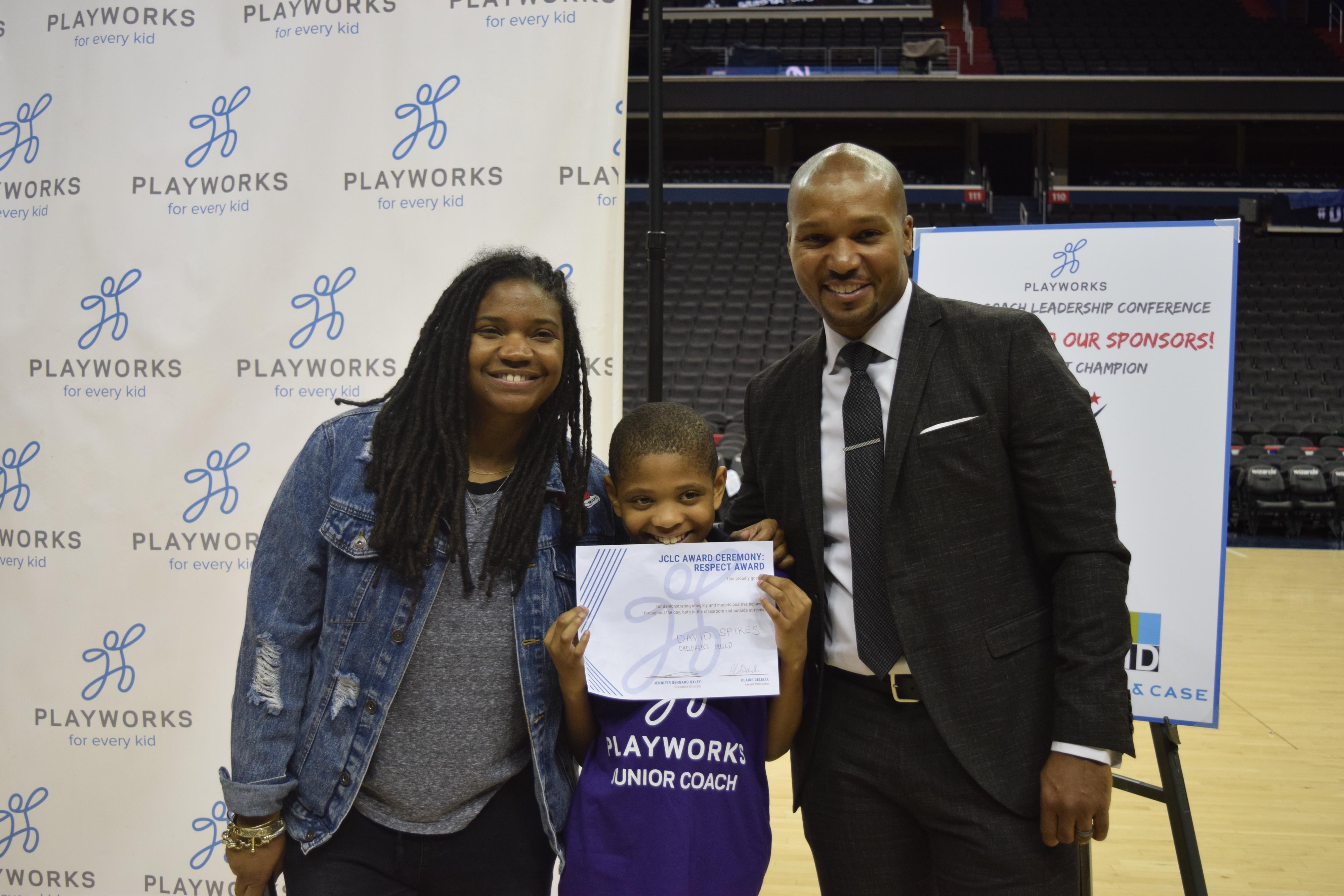 Angie Ange, Junior Coach, and Daren Haynes