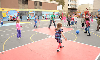 Safe and Healthy Recess at a Playworks school
