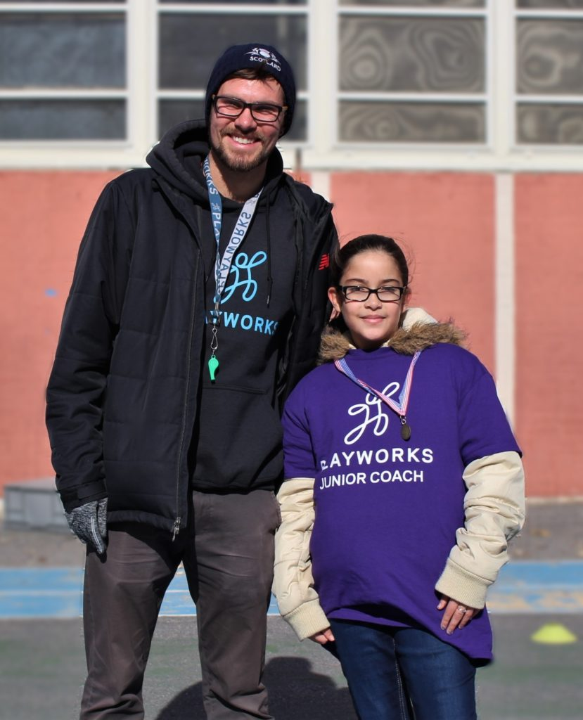 Playworks Coach Jonah and Junior Coach Juna