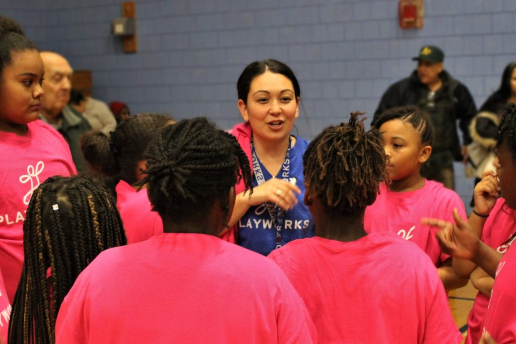 Playworks Coach Logan Basketball
