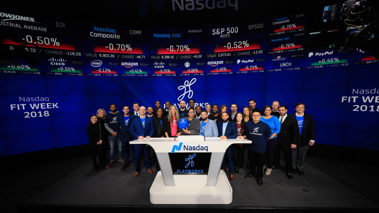 Playworks Rings First Opening Bell Of 2018 During Nasdaq