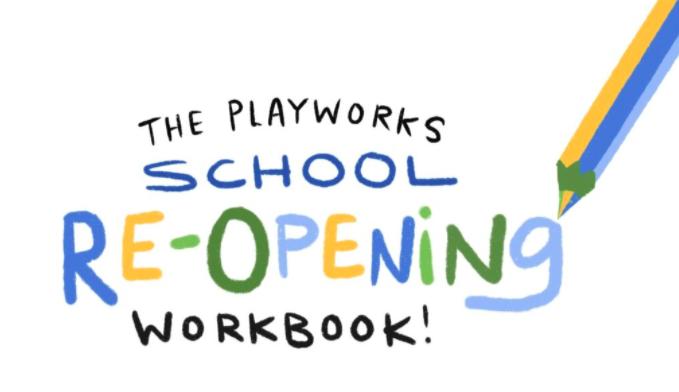 School reopening workbook cover logo