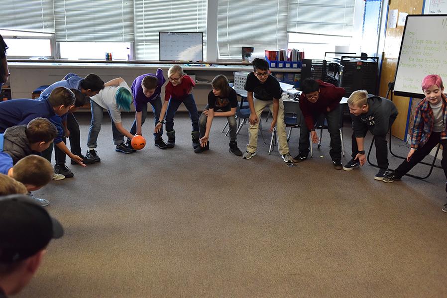 Children playing recess games