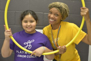 AmeriCorps Coach and student