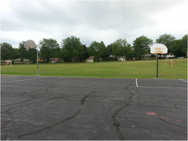 basketball courts & soccer fields