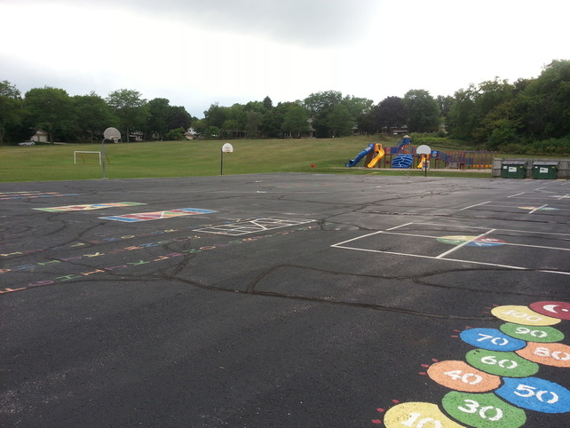 Blacktop marked for games