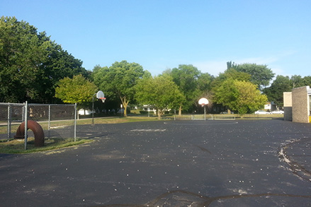 unsafe blacktop playground